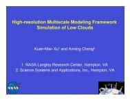 High-resolution Multiscale Modeling Framework ... - ceres - NASA