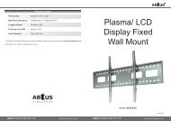 Plasma/ LCD Display Fixed Wall Mount - ABtUS