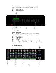Matrix Switcher Operational Manual 2009/06/10 ver:1.1 ... - ABtUS
