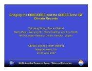 Bridging the ERBE/ERBS and the CERES/Terra SW Climate ... - NASA