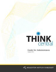 Guide for Administrators - Houghton Mifflin Harcourt