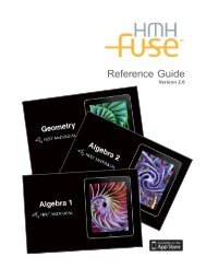 Reference Guide - Houghton Mifflin Harcourt