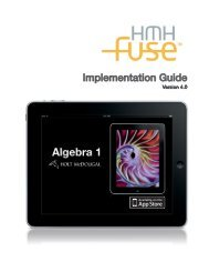 Implementation Guide - Houghton Mifflin Harcourt
