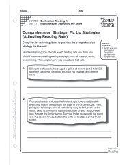 Comprehension Strategy - Houghton Mifflin Harcourt