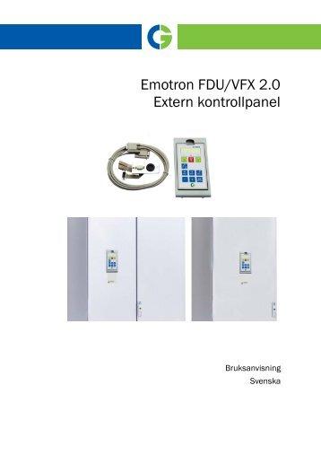 Emotron FDU/VFX 2.0 Extern kontrollpanel