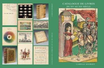 CATALOGUE DE LIVRES - Camille Sourget