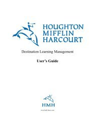Destination learning user guide 2011.book - Houghton Mifflin Harcourt