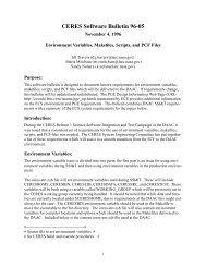 CERES Software Bulletin 96-05 - NASA