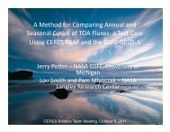 A Method for Comparing Annual and Seasonal ... - ceres - NASA