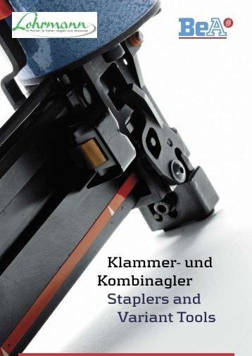 Klammer- und Kombinagler Staplers and Variant Tools