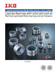 Capilube Bearings with solid lubricant oil
