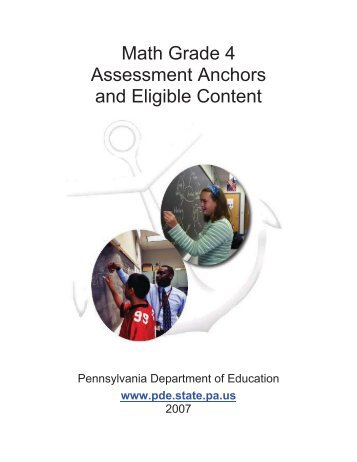 Math Grade 4 Assessment Anchors and Eligible Content - CAIU