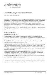 Protocol for E. coli RNA Polymerase Core Enzyme