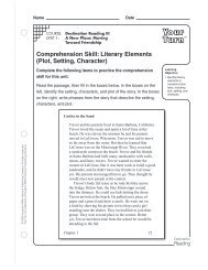 Literary Elements - Houghton Mifflin Harcourt