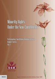 Minority Rights Under the New Constitution - Support to Participatory ...