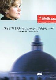 Flyer in English in PDF (468 KB) - 150 Jahre ETH Zürich