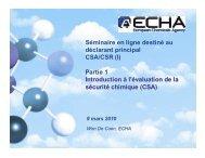 Évaluation de la sécurité chimique - Europa