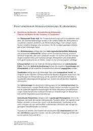 positionspapier herausforderung klimawandel - Bergbahnen ...