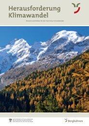 Herausforderung Klimawandel - Bergbahnen Graubünden