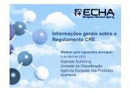Informações gerais sobre o Regulamento CRE - Europa
