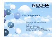 Anmeldelse af klassificering og mærkning - Europa