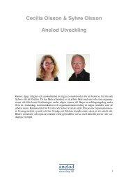 anelod Cecilia Olsson & Sylwe Olsson Anelod Utveckling