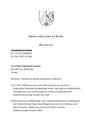 OBERLANDESGERICHT HAMM BESCHLUSS