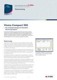 Visma Compact 500.indd - Visma Spcs AB