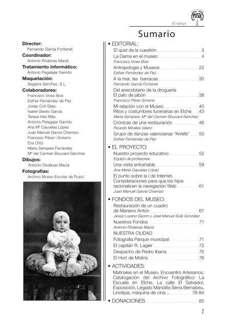 La Dama de Elche. Museo de Pusol El Setiet. Artículo Francisco Vives Boix.