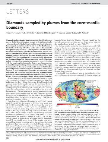 kimberlites - Earth Dynamics Group @ UiO