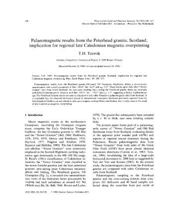 Palaeomagnetic results from the Peterhead granite, Scotland ...