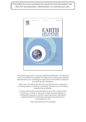 Author's personal copy - Earth Dynamics Group @ UiO