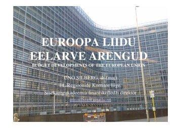 EUROOPA LIIDU EELARVE ARENGUD - Eesti Linnade Liit