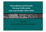 taavi ettekanne 31.märts 2012 - Eesti Linnade Liit