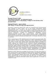 European Women's Lobby raporti lühikokkuvõte eesti keeles