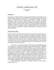 Projekti aruanne 2010