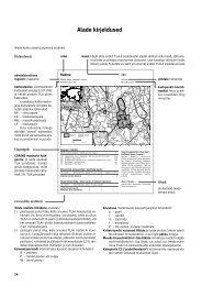Eesti tähtsate linnualade kaardid ja kirjeldused