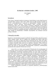 Projekti aruanne 2009