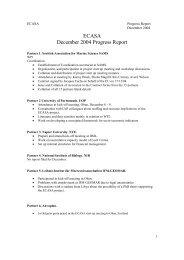 ECASA December 2004 Progress Report