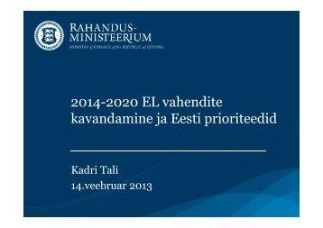 (Microsoft PowerPoint - Kadri_Tali linnade ja ... - Eesti Linnade Liit