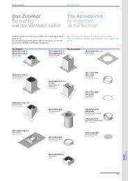 Das Zubehör So wichtig wie der Ventilator selbst The Accessories ...