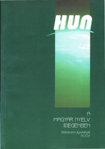A magyar nyelv idegenben.