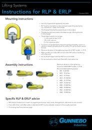 Instructions for RLP & ERLP - Gunnebo Industries