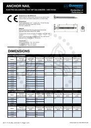 CE-300147-A4 Anchor nail - Gunnebo Industries
