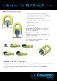Instruktion för RLP & ERLP - Gunnebo Industries