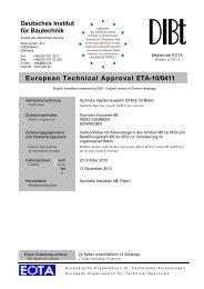 European Technical Approval ETA-10/0411 - Gunnebo Industries