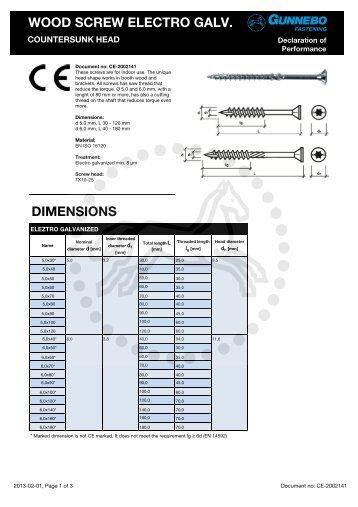 wood screw electro galv. - Gunnebo Industries