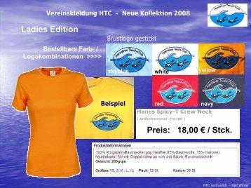 Ladies Edition Preis: 18,00 € / Stck. - Hamelner Tauchclub