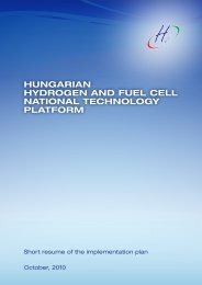 national strategic research agenda - European Hydrogen Association