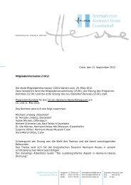 Mitgliederinformation 2/2012 - Internationale Hermann Hesse ...